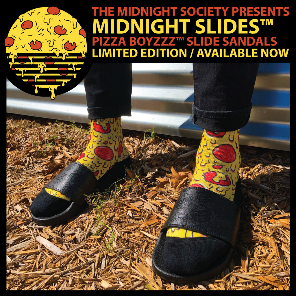 Midnight Slides™ X Pizza Boyzzz™ Slide Sandals