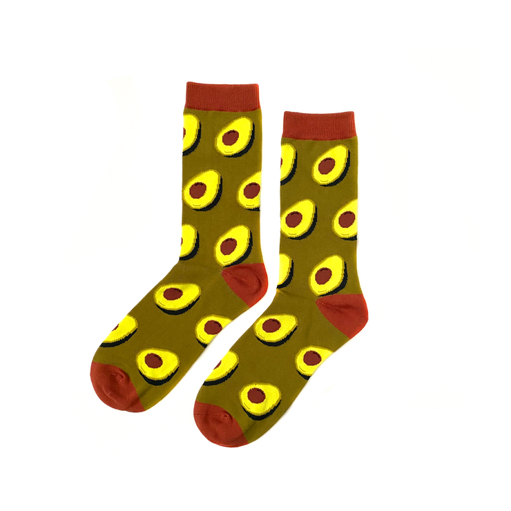 Ripe Avocado Socks - Brown/Green