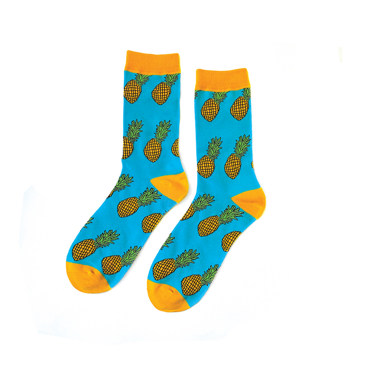Pineapple Socks - Blue/Yellow