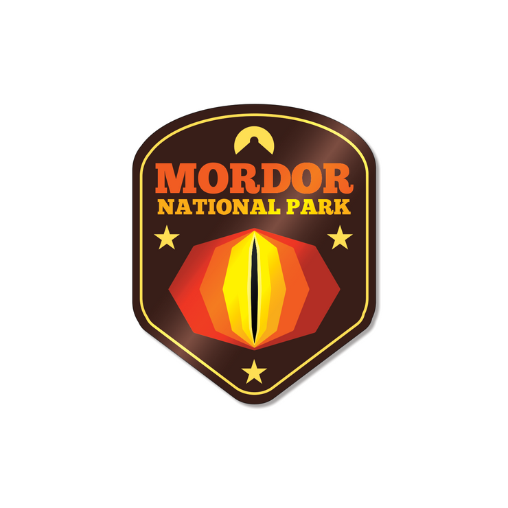 Mordor National Park Sticker