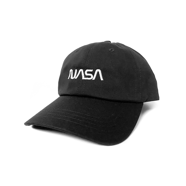 Project Apollo 'Worm' Twill Hat - Black / White