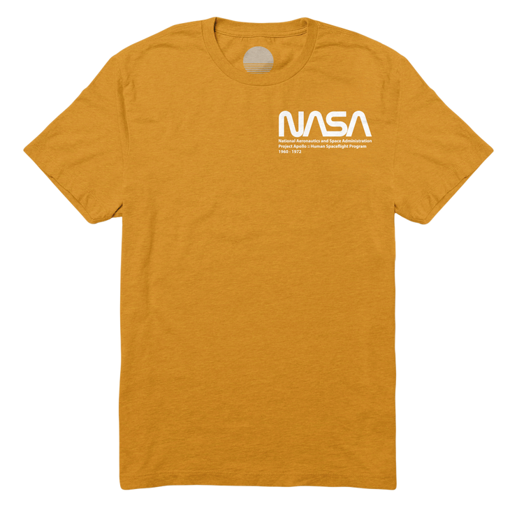 Project Apollo Tee I - Gold / White