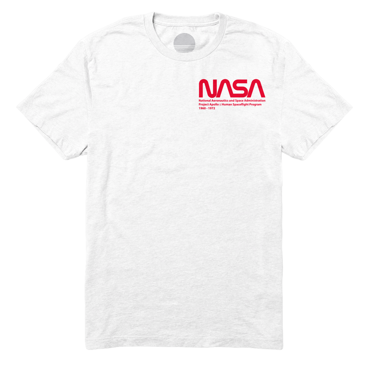 Project Apollo Tee - White / Red