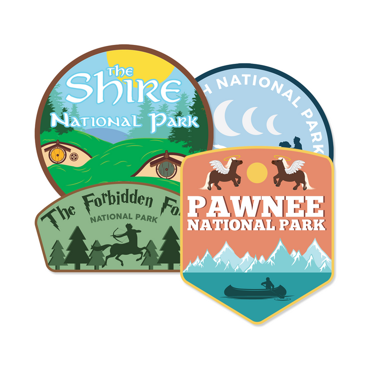 Fictional National Park Sticker Pack