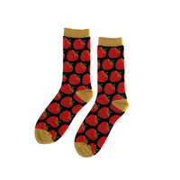 Strawberry Socks - Black/Khaki