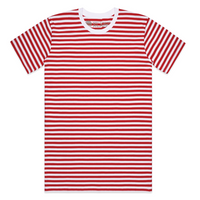 Super Stripe I Tee - Red/White