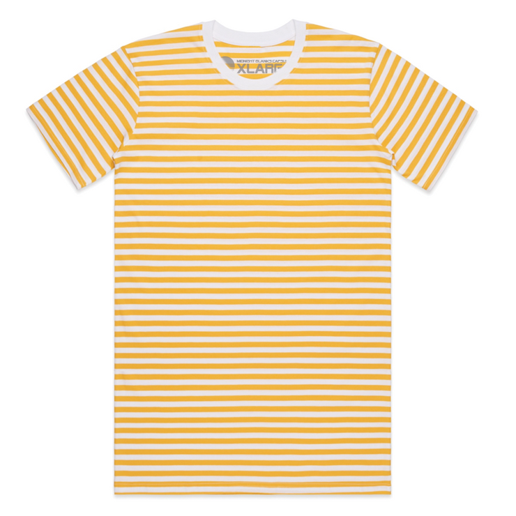 Super Stripe I Tee - Yellow/White