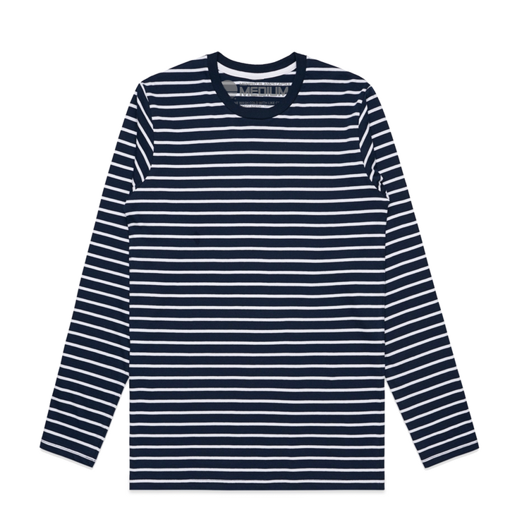 Super Stripe I Long Sleeve Tee - Navy/White