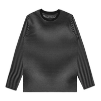 Super Stripe II Long Sleeve Tee - Asphalt/Black