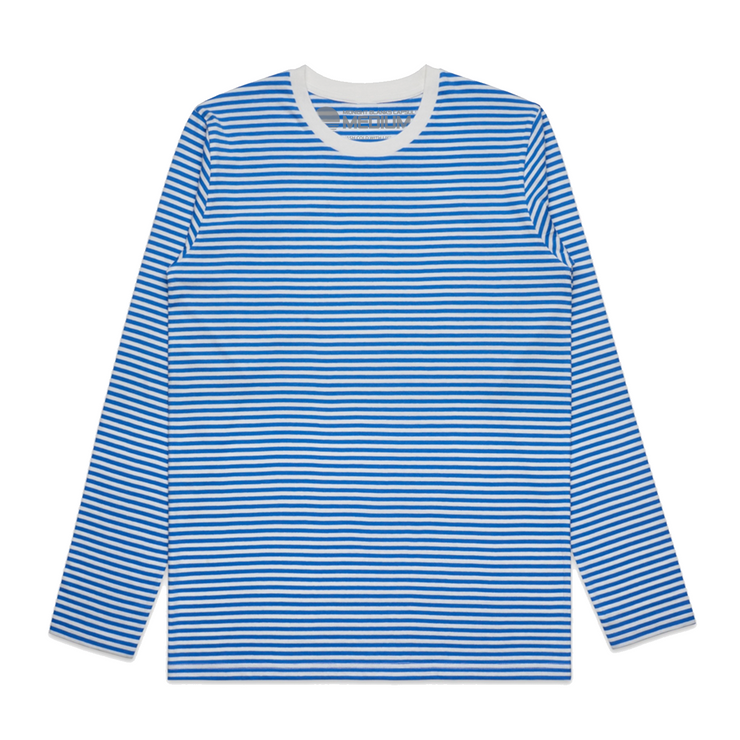 Super Stripe II Long Sleeve Tee - Blue/Natural