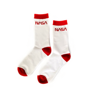 Project Apollo Classic 'Worm' Logo Socks - White / Red