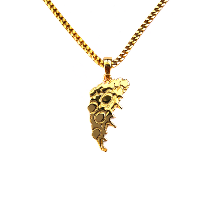 Pizza Slice Pendant & Chain - Gold
