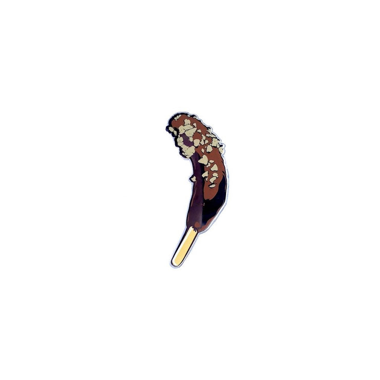 Cold Banana In Delicious Brown Treat - Enamel Pin