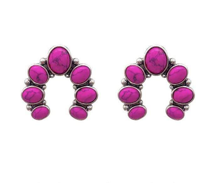 0022BOS Fashion Earrings Barnard Naja Post Earrings - Pink