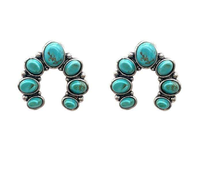 0022BOS Fashion Earrings Barnard Naja Post Earrings - Turquoise
