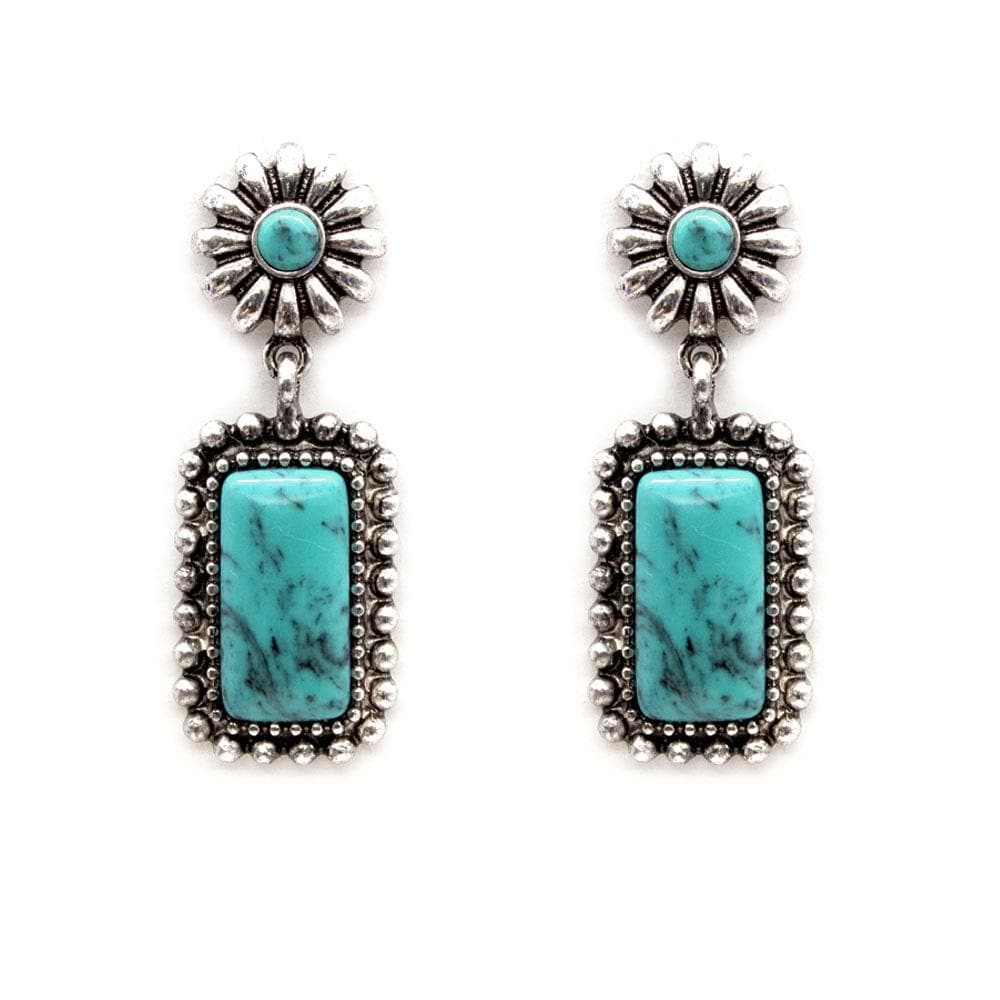 Midland Concho Drop Fashion Earrings - Turquoise