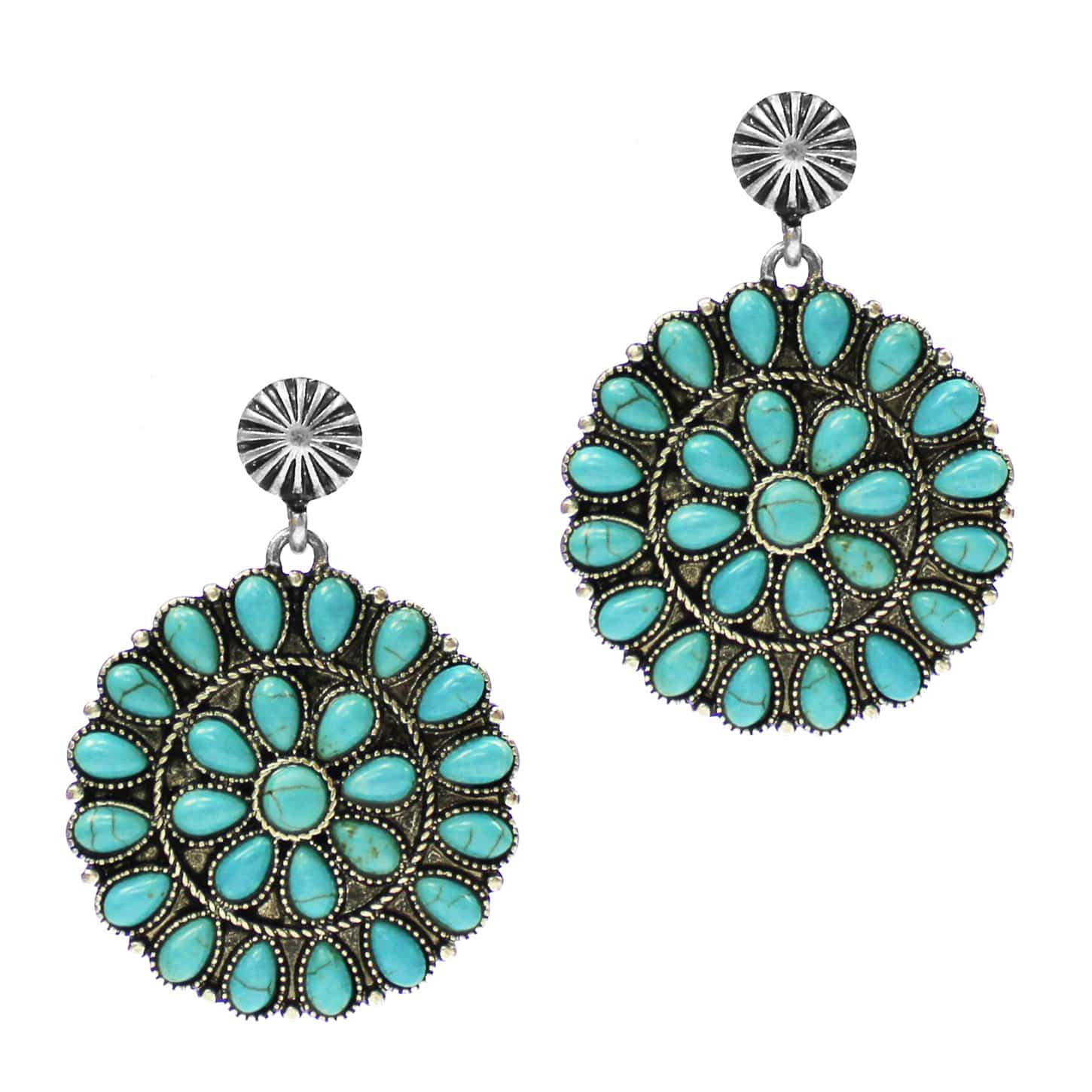 0022BOS Fashion Earrings Perryton Drop Cluster Earrings