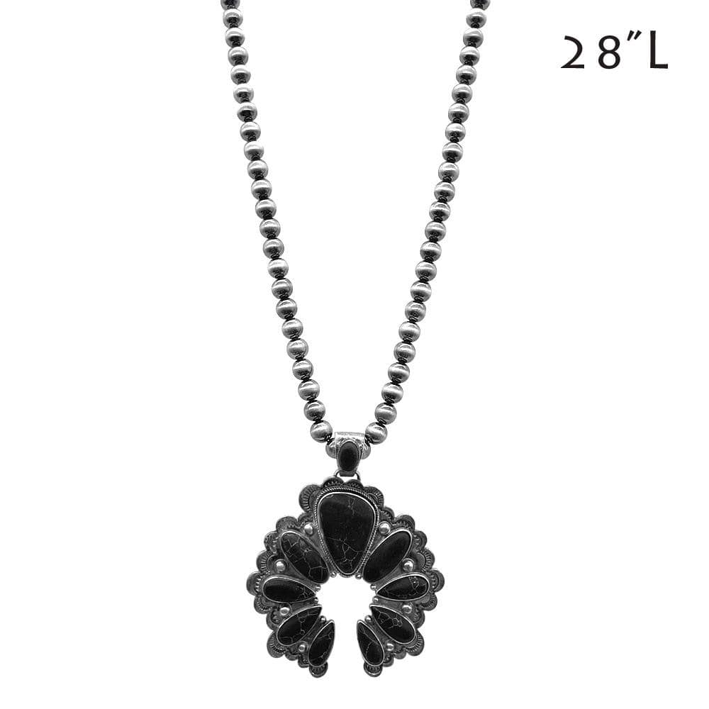 Ballard Naja Pendant Necklace - Black