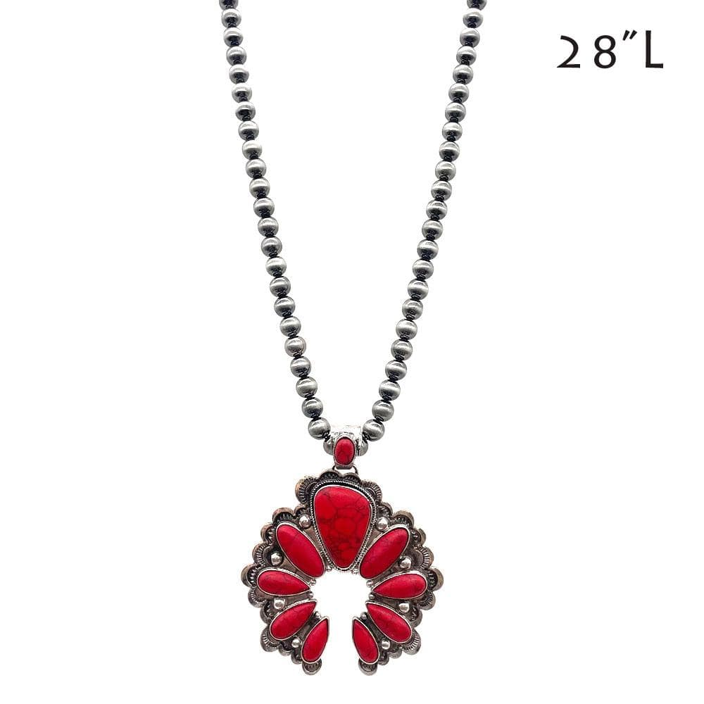 Ballard Naja Pendant Necklace - Red