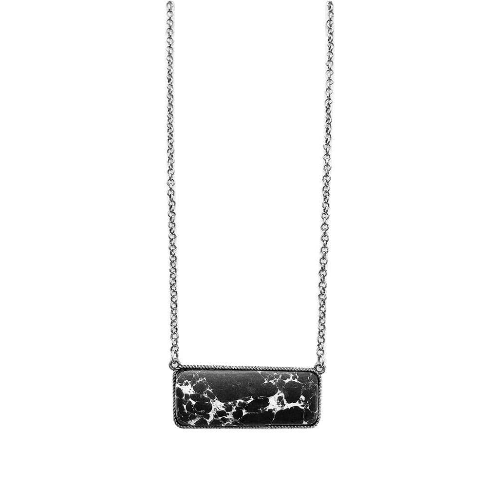 Barrett Bar Necklace - Black