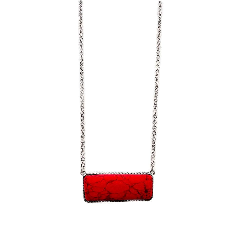 Barrett Bar Necklace - Red