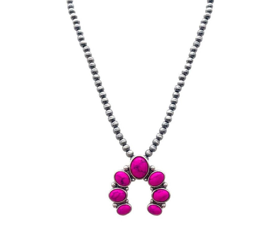 Nellie Naja Choker Necklace - Pink