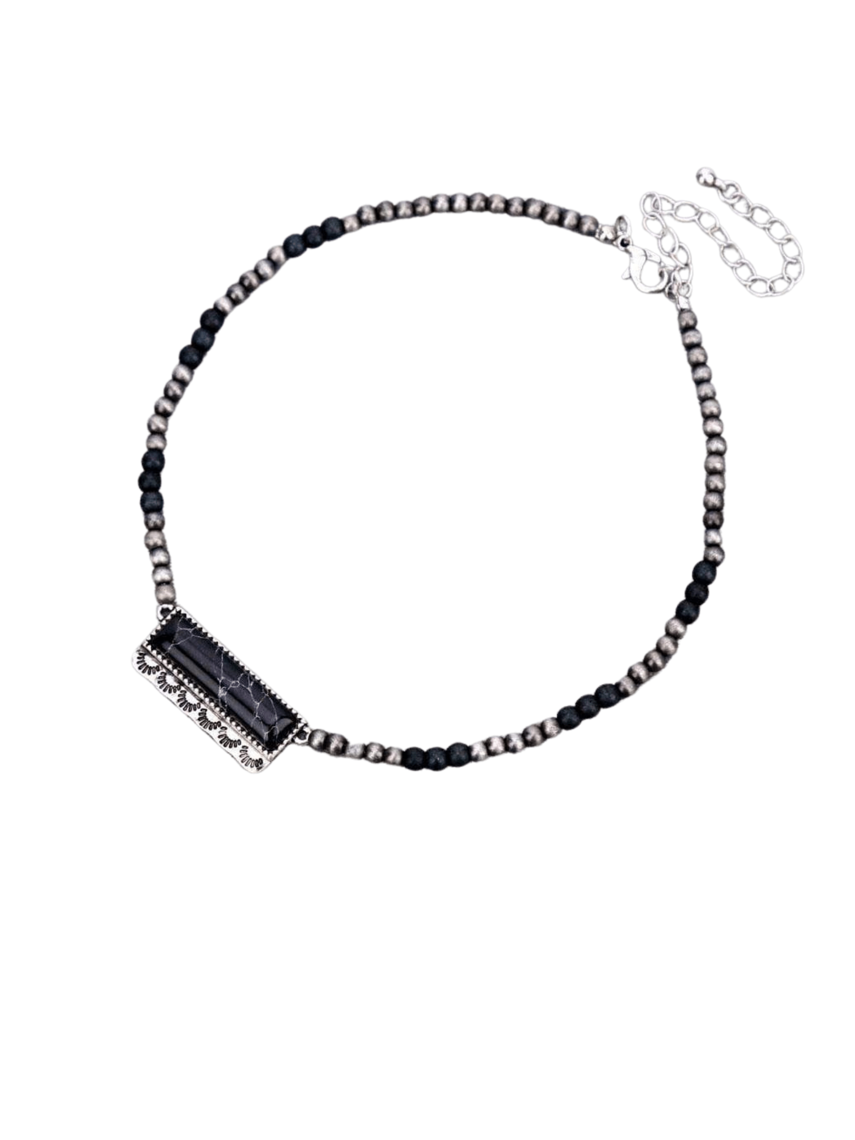 Fashion Bar Necklace - Black