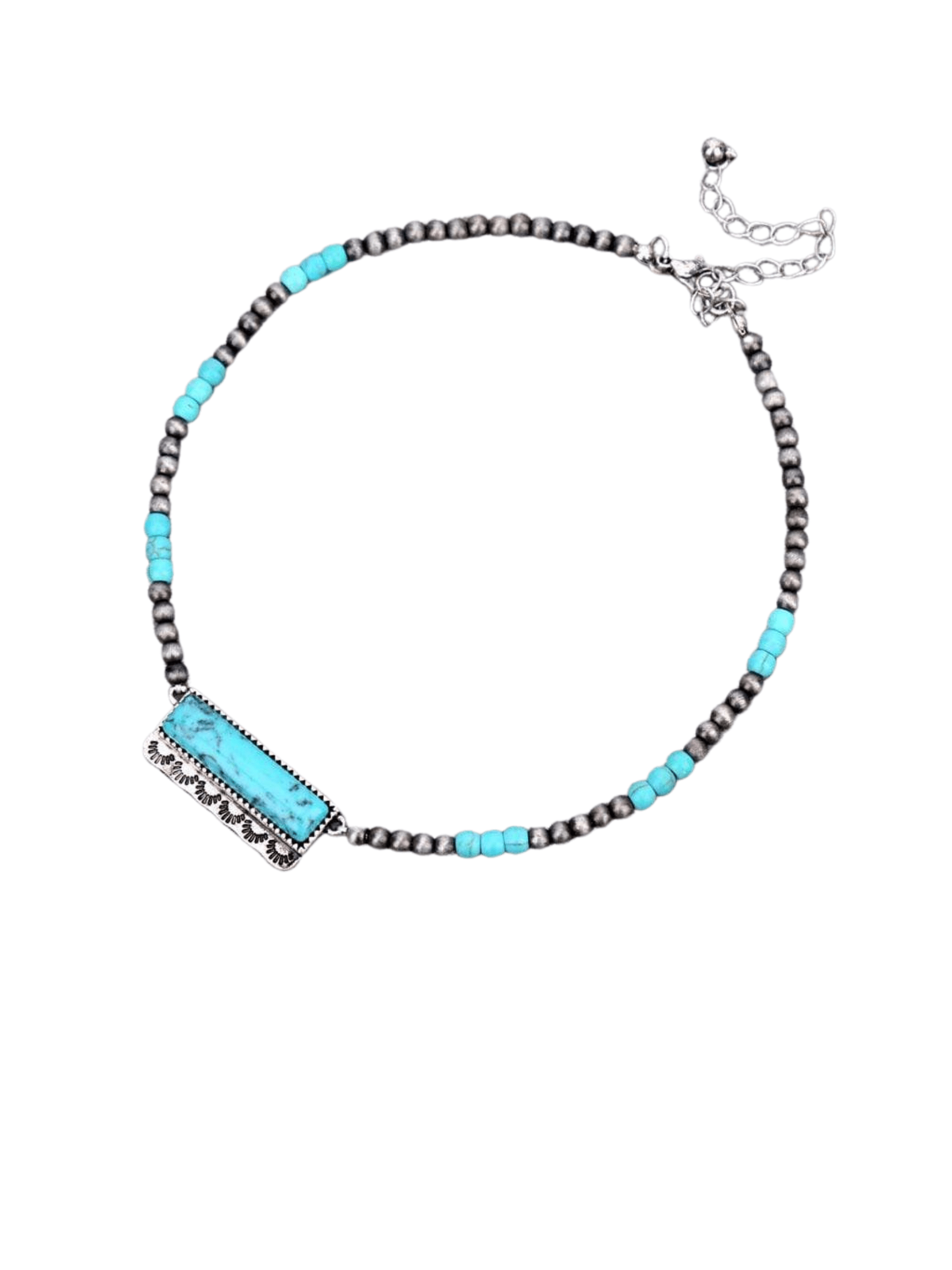 Fashion Bar Necklace - Turquoise