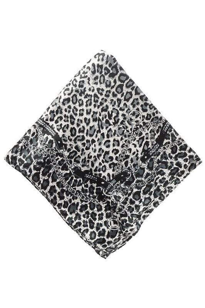 Accessorize In Style Accessories Specialty SlvLeopard Animal Print Wild Rags