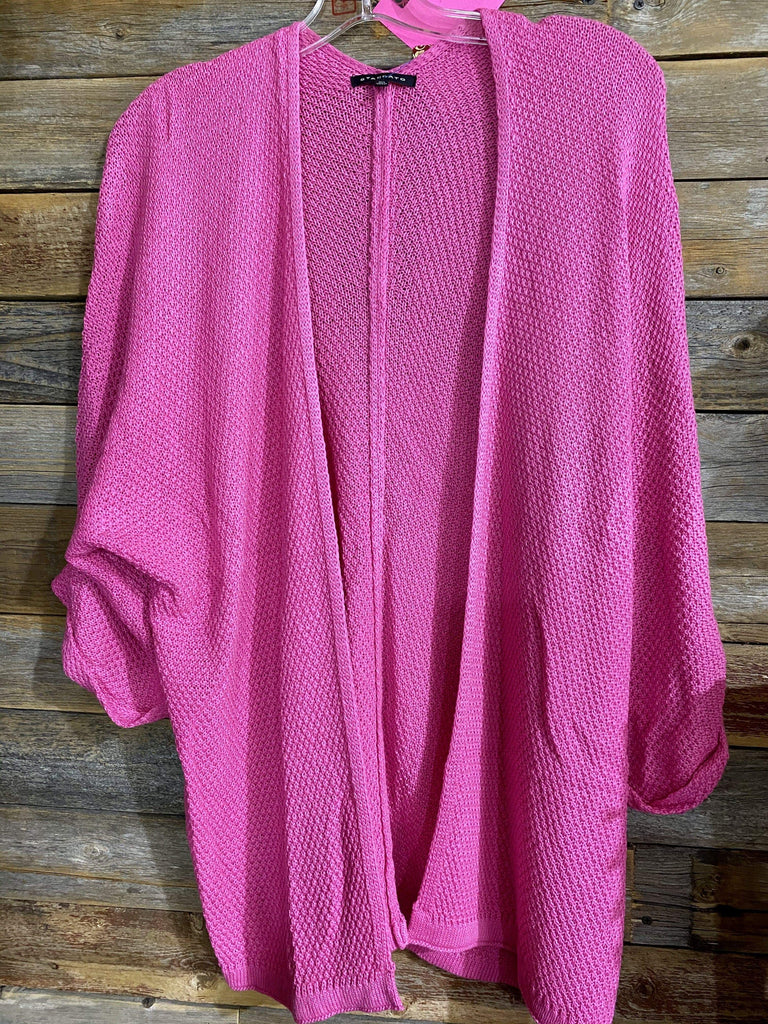 Accessorize In Style Cardigans Sweater Open Cardigan - Hot Pink