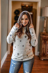 Accessorize In Style Casual Ivory Star Soft Hoodie