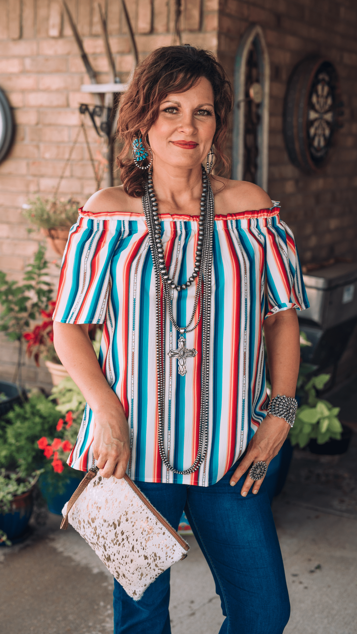 Serape Off the Shoulder Top