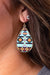 Accessorize In Style Fashion Earrings Aztec Teardrop Earrings - Turquoise