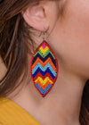 Accessorize In Style Fashion Earrings Beaded Earring - Multi Chevron