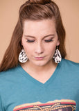 Accessorize In Style Fashion Earrings Black And White Hair On Teardrop Earrings
