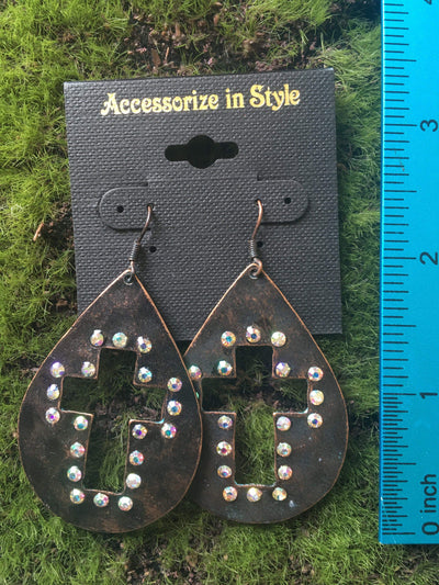 Accessorize In Style Fashion Earrings Cross Cutout Teardrop Earrings