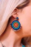 Accessorize In Style Fashion Earrings Fashion Circular Multi Colored Beaded Post Earrings
