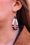 Accessorize In Style Fashion Earrings Fashion Copper Teardrop Earrings with White