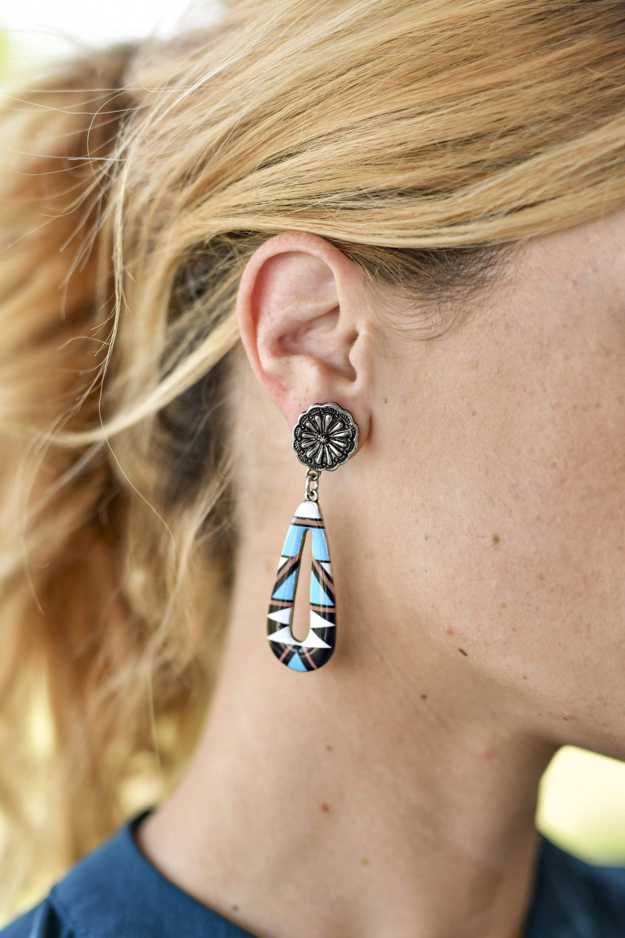 Fashion Inlay Earrings