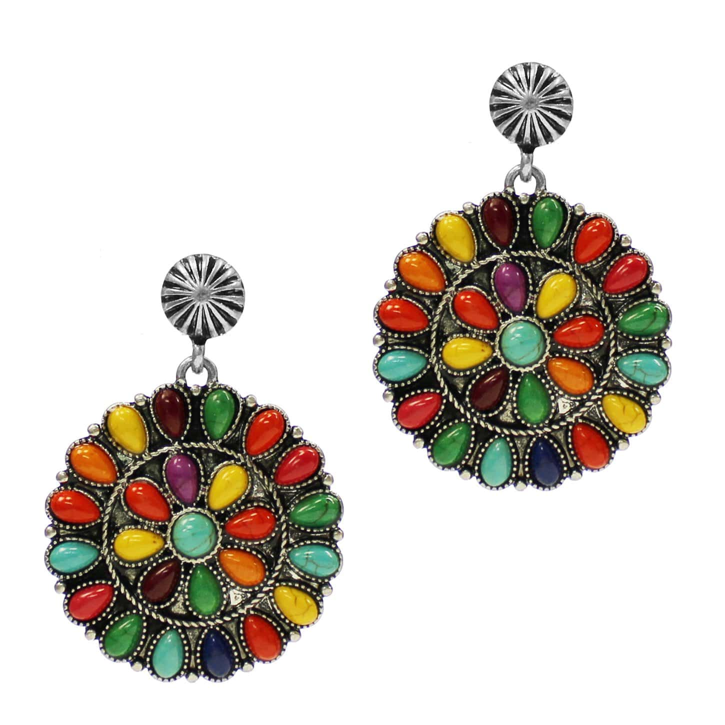 Accessorize In Style Fashion Earrings Fashion Multi Stone Cluster Earrings