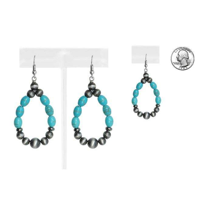 Accessorize In Style Fashion Earrings Fashion Navajo Pearl & Turquoise Earrings