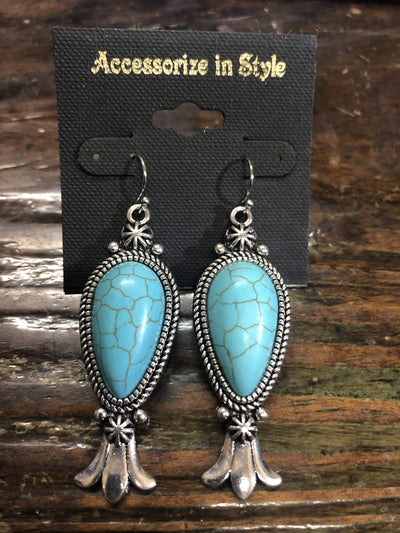 Accessorize In Style Fashion Earrings Fashion Turquoise Earrings with Flute