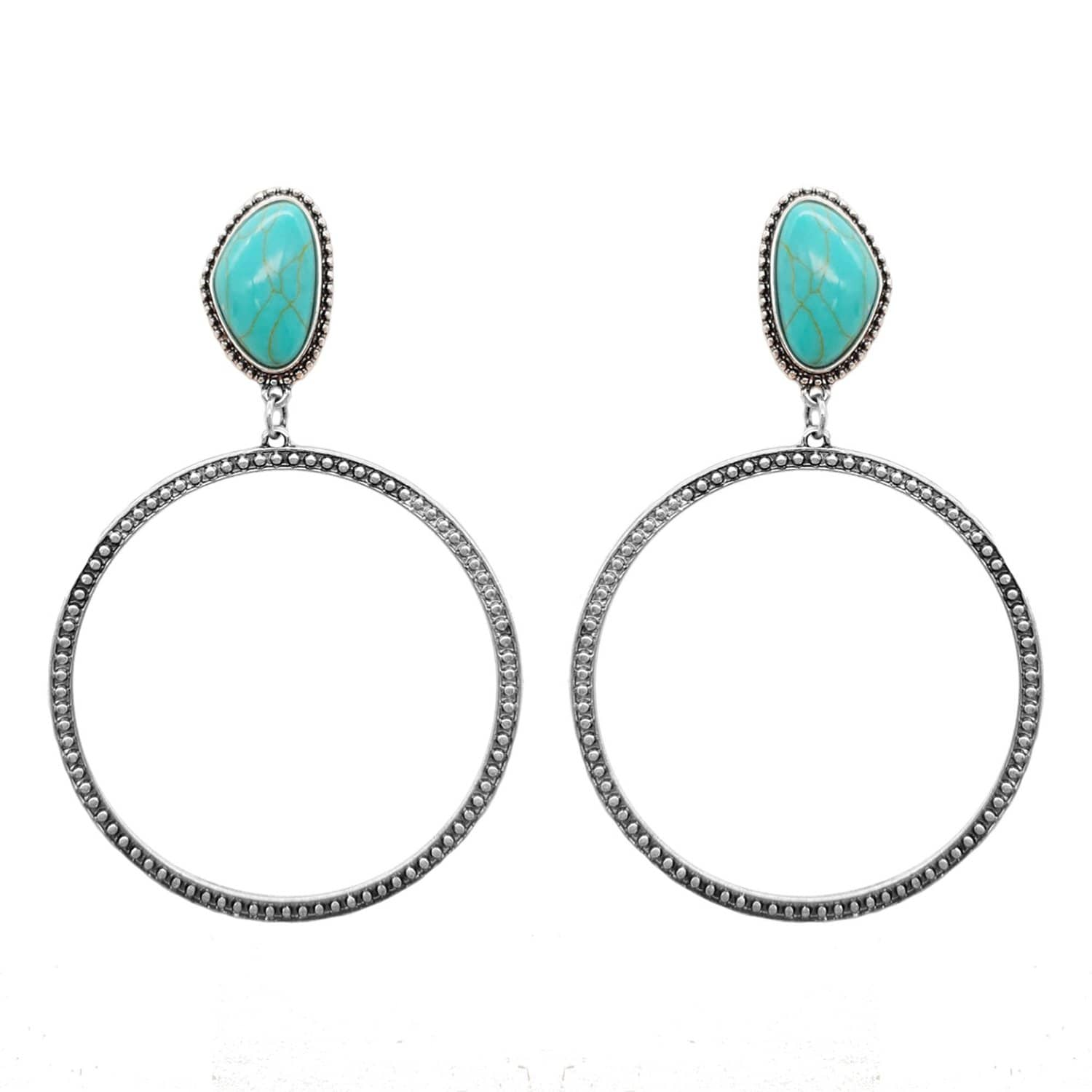 Accessorize In Style Fashion Earrings Fashion Turquoise Hoop Earrings