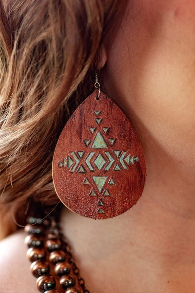 Accessorize In Style Fashion Earrings Leather Teardrop Earrings