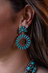 Accessorize In Style Fashion Earrings Turquoise Round Post Fashion Earrings