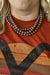 "Accessorize In Style Fashion Necklaces Fashion 3 Strand Copper Necklace 16""-19"""