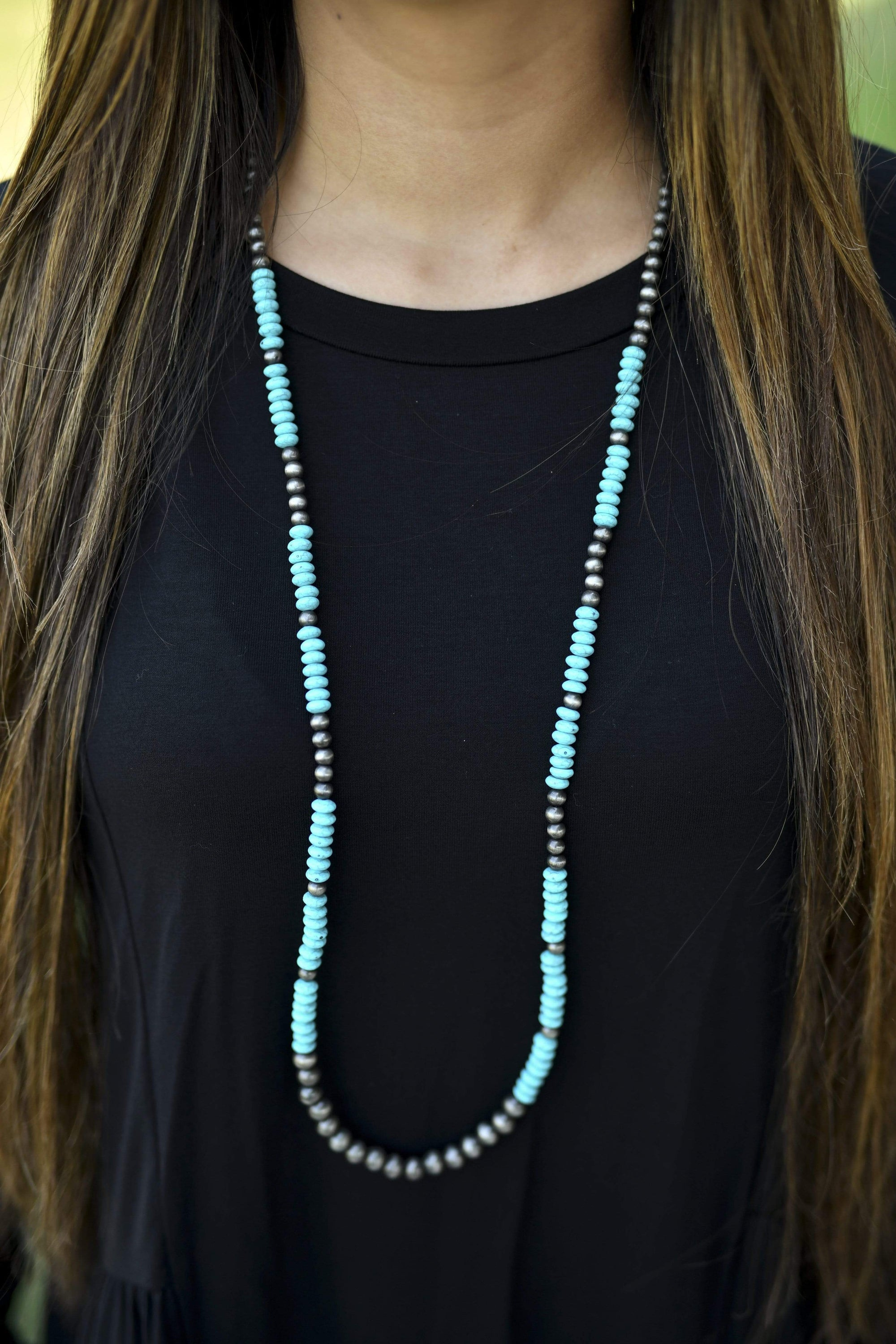 Accessorize In Style Fashion Necklaces Fashion Single Turquoise /Silver Necklace Hannah
