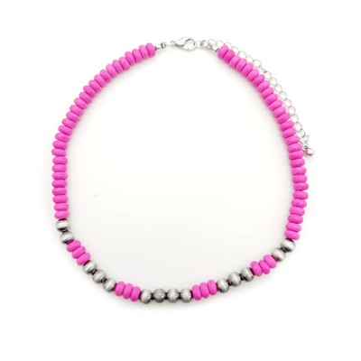 Accessorize In Style Fashion Necklaces Hot Pink Fashion Choker