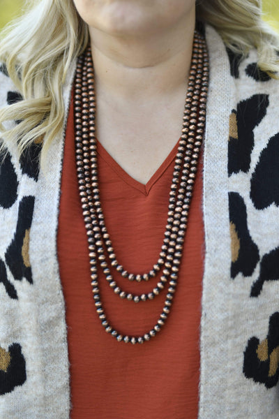 Accessorize In Style Fashion Necklaces Lindsay Fashion 3 Strand Copper Necklace