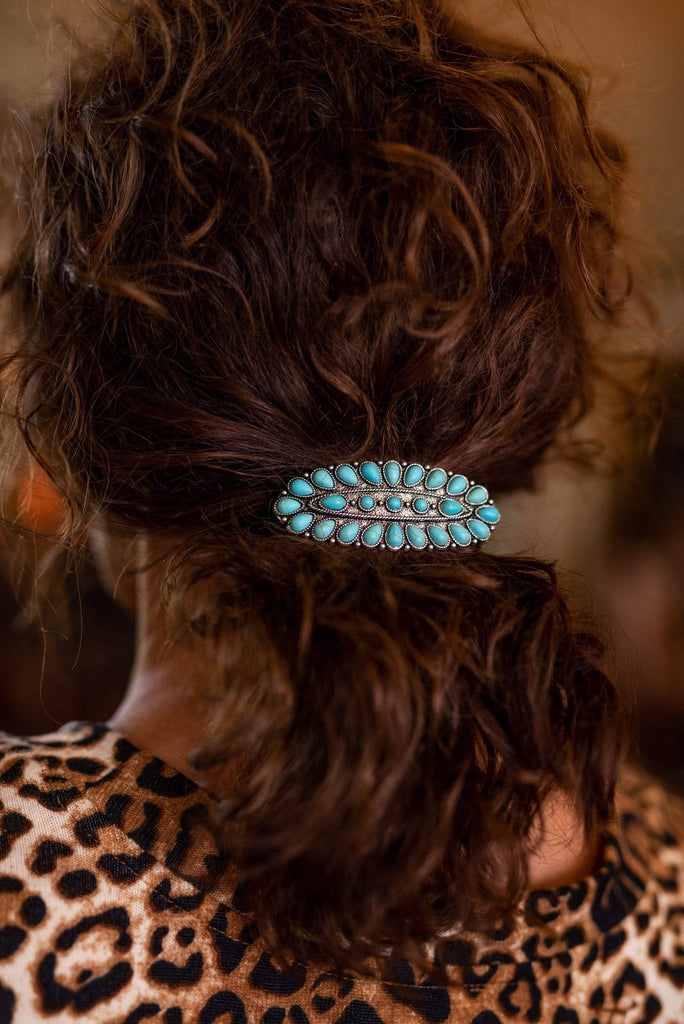 Accessorize In Style Fashion Specialty Oval Zuni Inspired Cluster Barrette